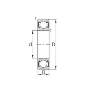 20 mm x 42 mm x 12 mm  CYSD 6004-2RS deep groove ball bearings