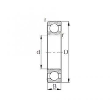 20 mm x 42 mm x 12 mm  CYSD 6004 deep groove ball bearings