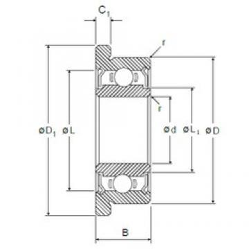 3,175 mm x 9,525 mm x 3,967 mm  NMB RF-2ZZ deep groove ball bearings