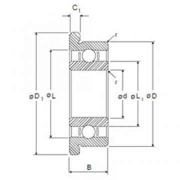 3,175 mm x 9,525 mm x 3,967 mm  NMB RF-2 deep groove ball bearings