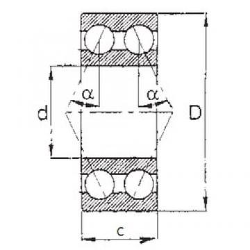 70 mm x 150 mm x 63,5 mm  FBJ 5314 angular contact ball bearings