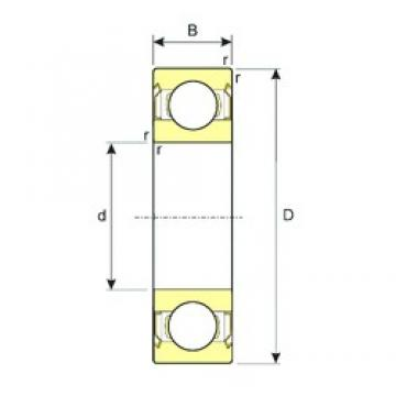 3,175 mm x 9,525 mm x 3,967 mm  ISB R2ZZ deep groove ball bearings