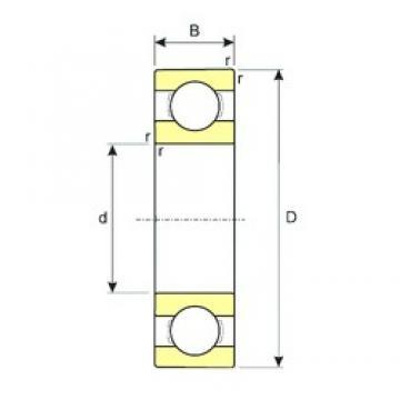 65 mm x 100 mm x 18 mm  ISB SS 6013 deep groove ball bearings