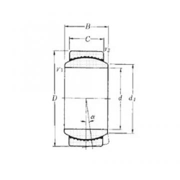 20 mm x 35 mm x 16 mm  NTN SAR1-20 plain bearings