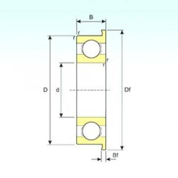 3,175 mm x 9,525 mm x 3,967 mm  ISB FR2 deep groove ball bearings