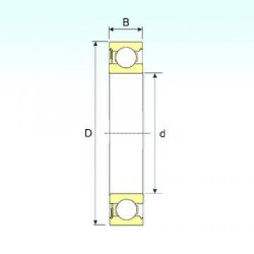 20 mm x 42 mm x 12 mm  ISB 6004-RS deep groove ball bearings