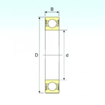 20 mm x 42 mm x 12 mm  ISB 6004-2RS deep groove ball bearings