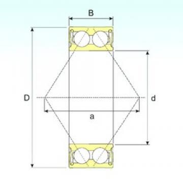 17 mm x 47 mm x 22,2 mm  ISB 3303-2RS angular contact ball bearings