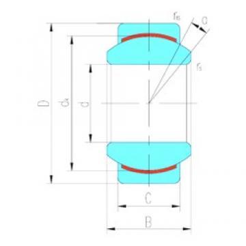20 mm x 35 mm x 16 mm  LS GE20C plain bearings