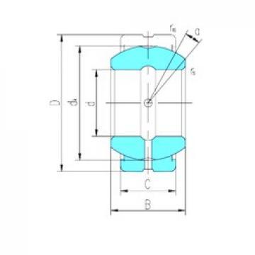 20 mm x 35 mm x 16 mm  LS GE20ES-2RS plain bearings