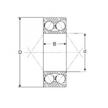 17 mm x 47 mm x 22,2 mm  SIGMA 3303 angular contact ball bearings