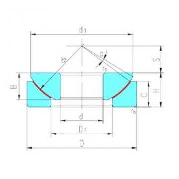 180 mm x 320 mm x 74 mm  LS GX180T plain bearings
