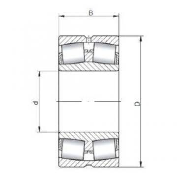 180 mm x 320 mm x 86 mm  Loyal 22236 CW33 spherical roller bearings