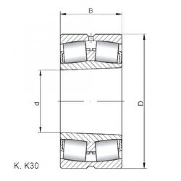 120 mm x 200 mm x 62 mm  Loyal 23124 KCW33 spherical roller bearings