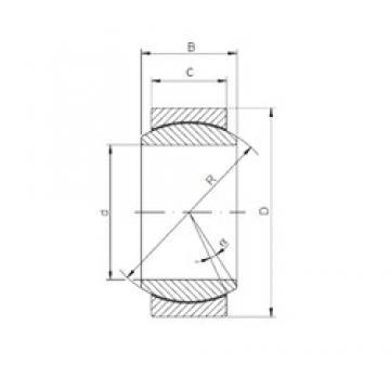 20 mm x 35 mm x 16 mm  Loyal GE 020 ECR plain bearings