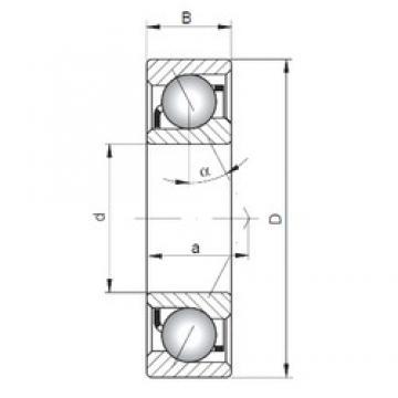 65 mm x 100 mm x 18 mm  ISO 7013 A angular contact ball bearings