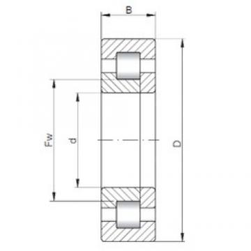 180 mm x 320 mm x 86 mm  ISO NUP2236 cylindrical roller bearings