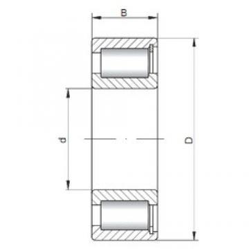 180 mm x 320 mm x 86 mm  Loyal NCF2236 V cylindrical roller bearings