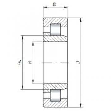 180 mm x 320 mm x 86 mm  ISO NJ2236 cylindrical roller bearings