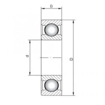 20 mm x 42 mm x 12 mm  Loyal 6004 deep groove ball bearings