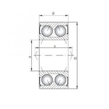 Loyal 3314 ZZ angular contact ball bearings