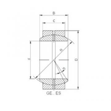 20 mm x 35 mm x 16 mm  Loyal GE 020 ES-2RS plain bearings