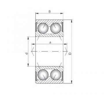 Loyal 3303-2RS angular contact ball bearings