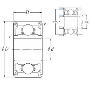 3,175 mm x 9,525 mm x 3,967 mm  ISO R2-2RS deep groove ball bearings