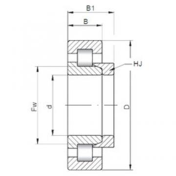 180 mm x 320 mm x 86 mm  Loyal NH2236 E cylindrical roller bearings
