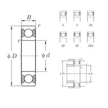 65 mm x 100 mm x 18 mm  KOYO 6013Z deep groove ball bearings