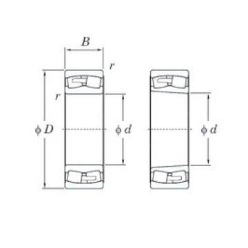 180 mm x 320 mm x 86 mm  KOYO 22236RHAK spherical roller bearings