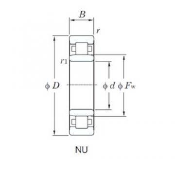 65 mm x 100 mm x 18 mm  KOYO NU1013 cylindrical roller bearings