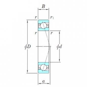 20 mm x 42 mm x 12 mm  KOYO 3NCHAC004C angular contact ball bearings