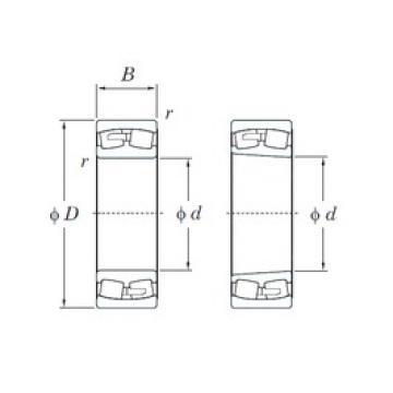 180 mm x 320 mm x 86 mm  KOYO 22236R spherical roller bearings