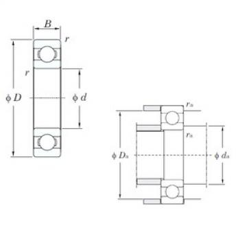 65 mm x 100 mm x 18 mm  KOYO 6013 deep groove ball bearings
