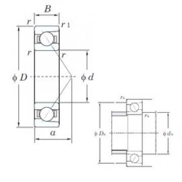 20 mm x 42 mm x 12 mm  KOYO 7004C angular contact ball bearings