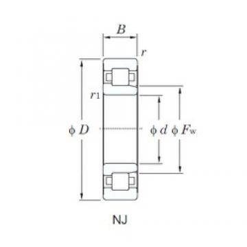 180 mm x 320 mm x 86 mm  KOYO NJ2236R cylindrical roller bearings