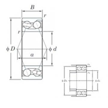70 mm x 150 mm x 63.5 mm  KOYO 3314 angular contact ball bearings