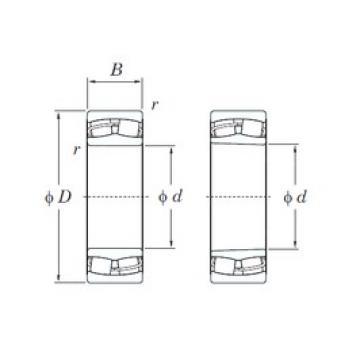 120 mm x 200 mm x 62 mm  KOYO 23124RH spherical roller bearings