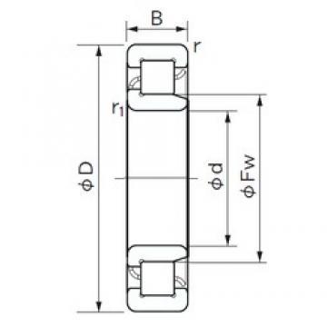 180 mm x 320 mm x 86 mm  NACHI NJ 2236 cylindrical roller bearings