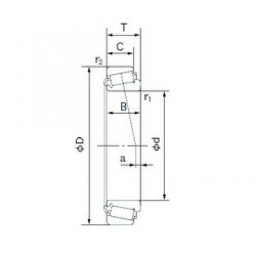 35 mm x 62 mm x 18 mm  NACHI E32007J tapered roller bearings