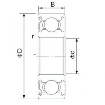 65 mm x 100 mm x 18 mm  CYSD 6013-Z deep groove ball bearings