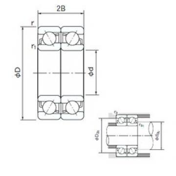 20 mm x 42 mm x 12 mm  NACHI 7004DF angular contact ball bearings