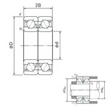 65 mm x 100 mm x 18 mm  NACHI 7013CDB angular contact ball bearings