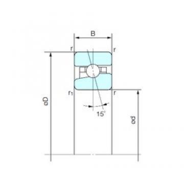 65 mm x 100 mm x 18 mm  NACHI BNH 013 angular contact ball bearings