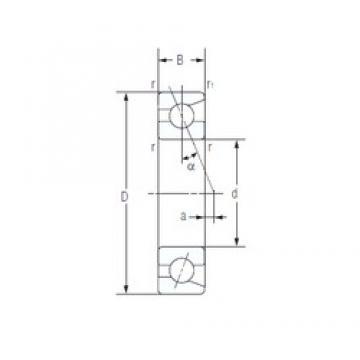 65 mm x 100 mm x 18 mm  NACHI 7013AC angular contact ball bearings