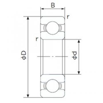 65 mm x 100 mm x 18 mm  NACHI 6013 deep groove ball bearings