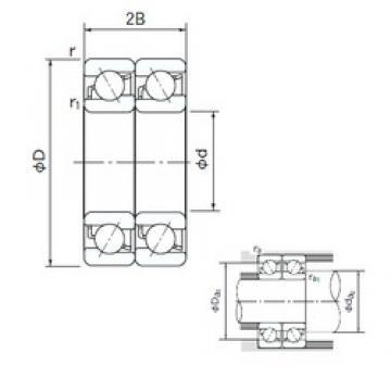 20 mm x 42 mm x 12 mm  NACHI 7004CDT angular contact ball bearings