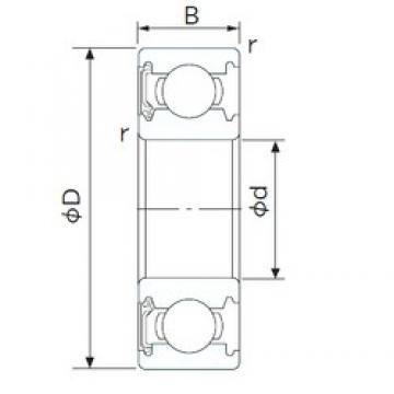 65 mm x 100 mm x 18 mm  NACHI 6013NSE deep groove ball bearings