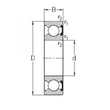 65 mm x 100 mm x 18 mm  NKE 6013-2RSR deep groove ball bearings